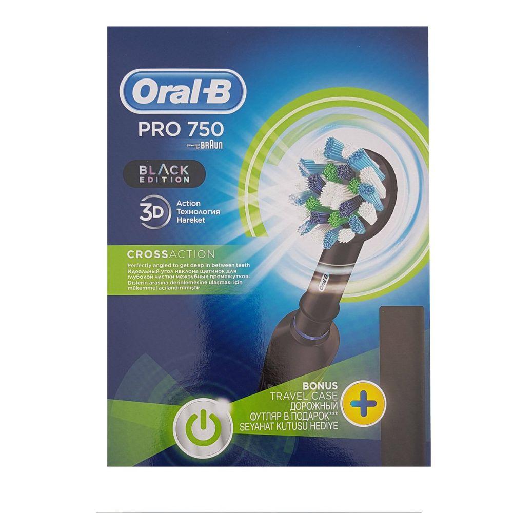 Зубна щітка Oral-B Braun Cross Action PRO 750 black edition eb4f0b1e2ed4b