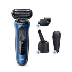 Электробритва Braun Series 6 60-B7500cc BLUE / BLACK Wet&Dry