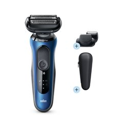 Электробритва Braun Series 6 60-B1500s BLUE / BLACK Wet&Dry