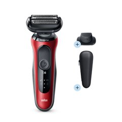 Электробритва Braun Series 6 60-R1200s RED / BLACK Wet&Dry