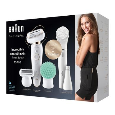 Эпилятор Braun Silk-epil 9 Flex 3D Beauty Set SES 9300 Wet&Dry + FaceSpa